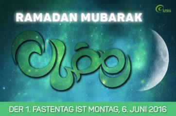 Der IZRS wünscht allen einen gesegneten Ramadan
