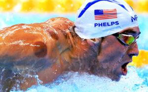 Olympia Star Michael Phelps nach Trockenschröpfung